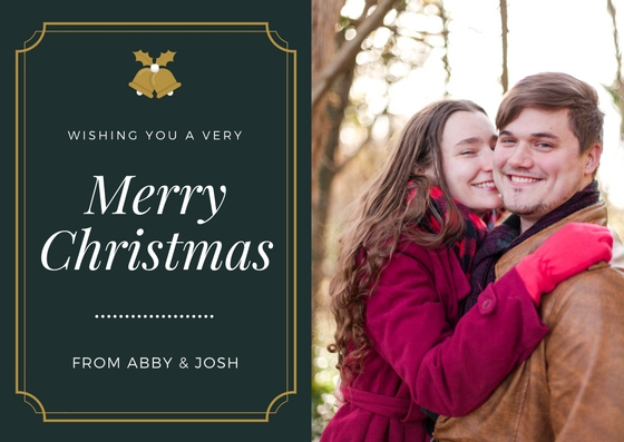 This was also a winter engagement session, so that made it easier to convert to a Christmas card!