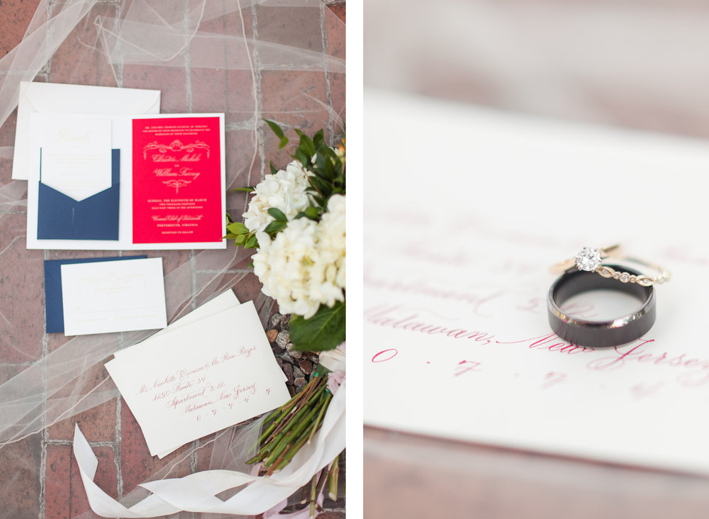 Her hand-lettered invitation suite. All the heart eyes for this beautiful script and popping colors!