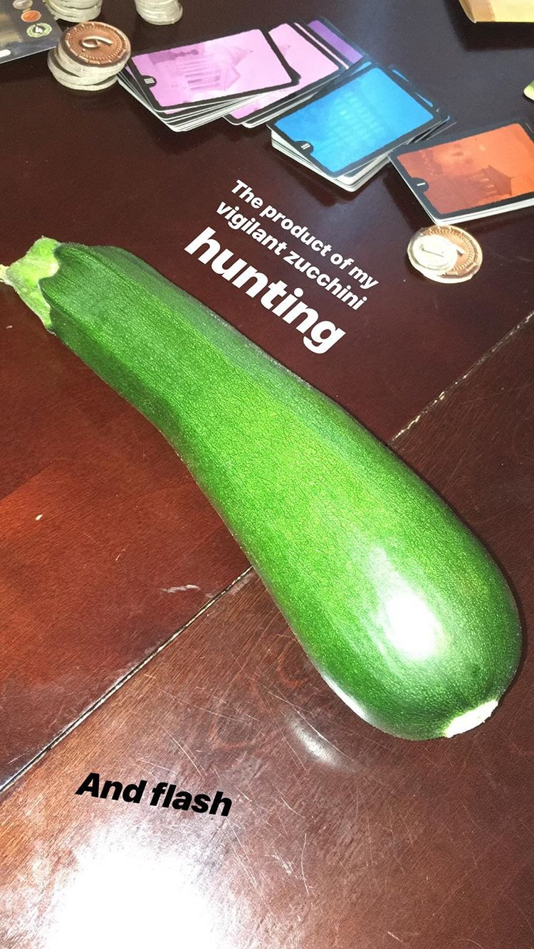 Zucchinis are sneaky. They like to hide and grow into huge monsters while you're not looking.