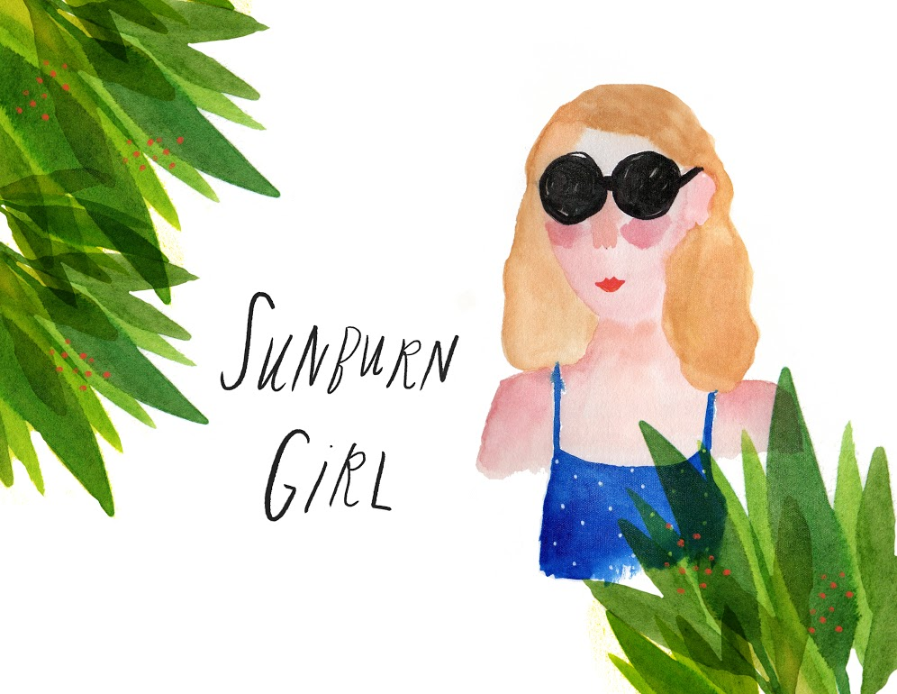 """Sunburn Girl"" Illustration"