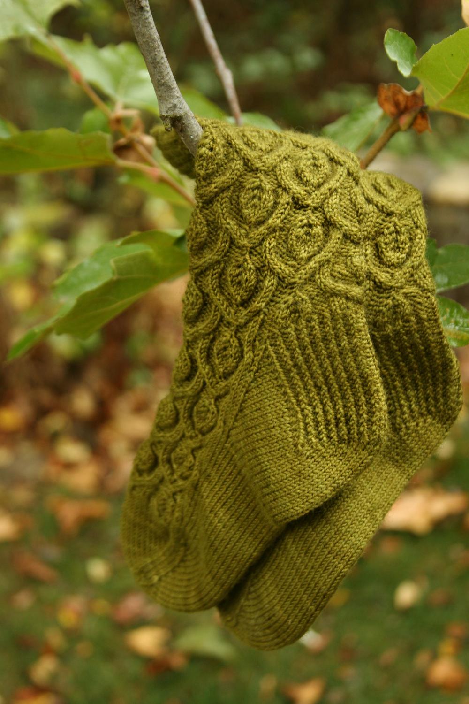 Arching Leaves Socks Side View.jpg