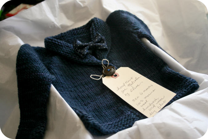 Baby Sophisticate Sweater 2 Never Not Knitting