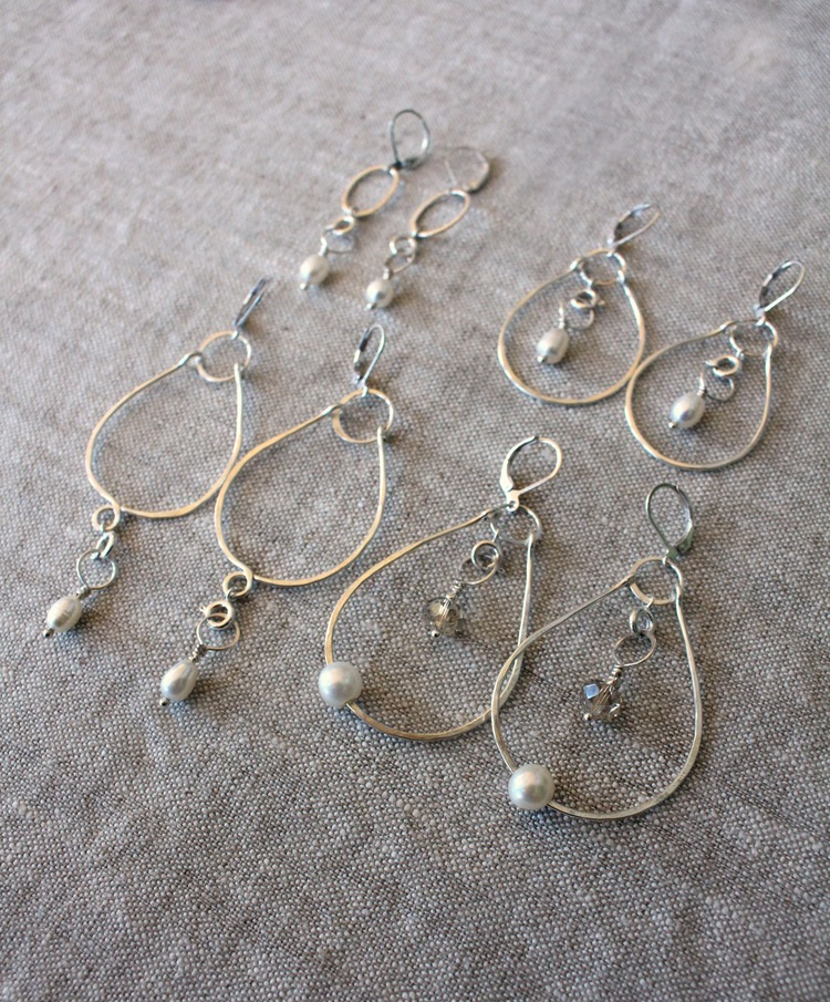 design bloomingoak earrings b wire kidney silver and moonstone product