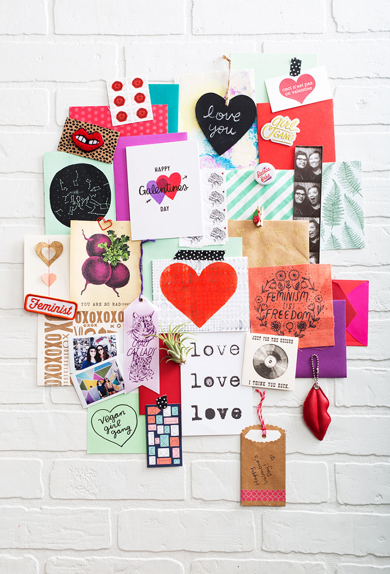 Kat Marshello Galentines Day Inspiration wall