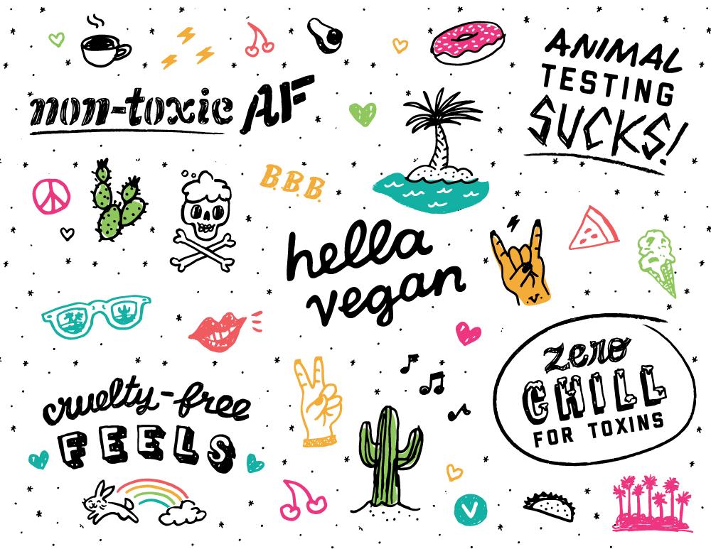 Custom brand icons for Bare Bones Body Care
