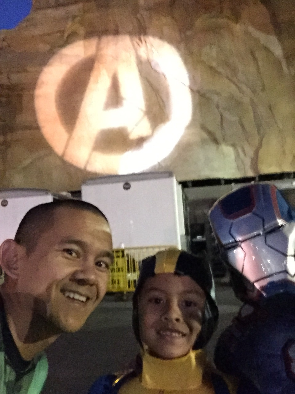 Excited to see the Avengers logo on the course