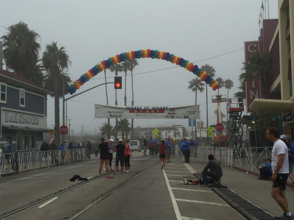 My view with over an hour before the start. This was the Elite corral, I was in Corral A
