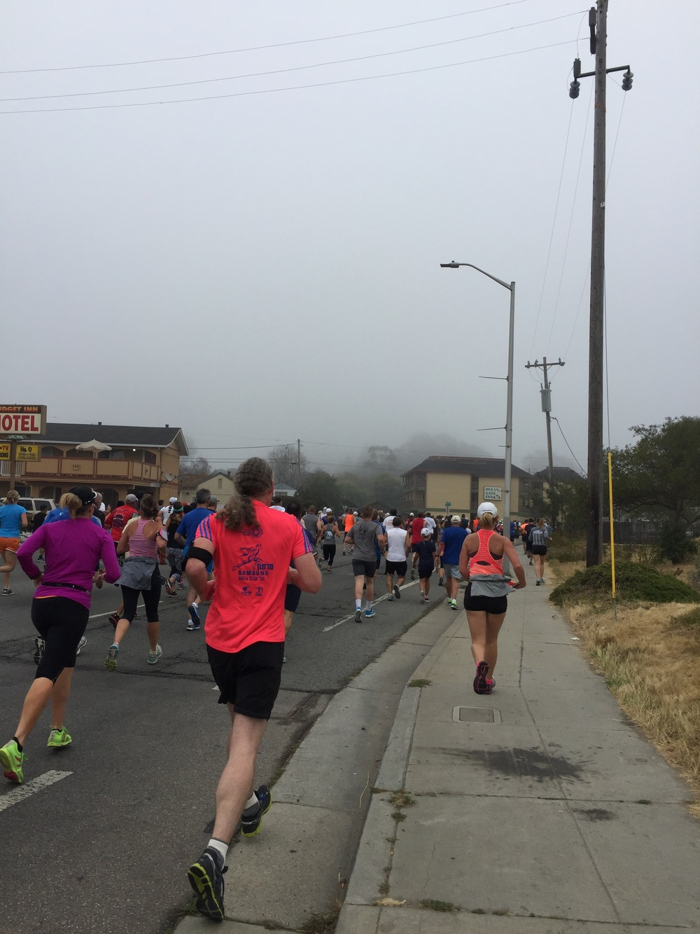 Mile 1 and the crowds were still thick.