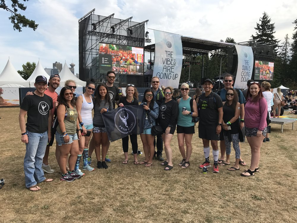 Just SOME of the people who have truly become wonderful support in our lives.  Seeing them is one of the highlights of any weekend.  Typically it's Dave in these group shots.  Lol.   @werunsocial