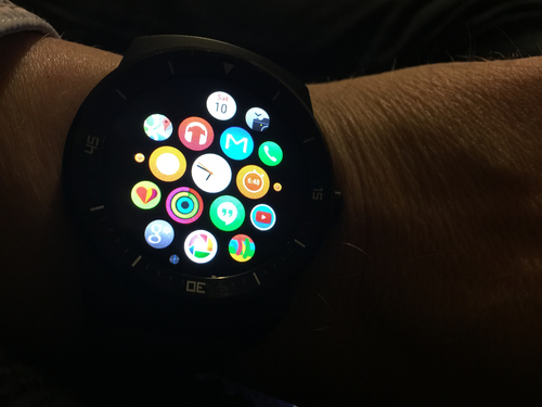 The irony of an Apple Watch face...