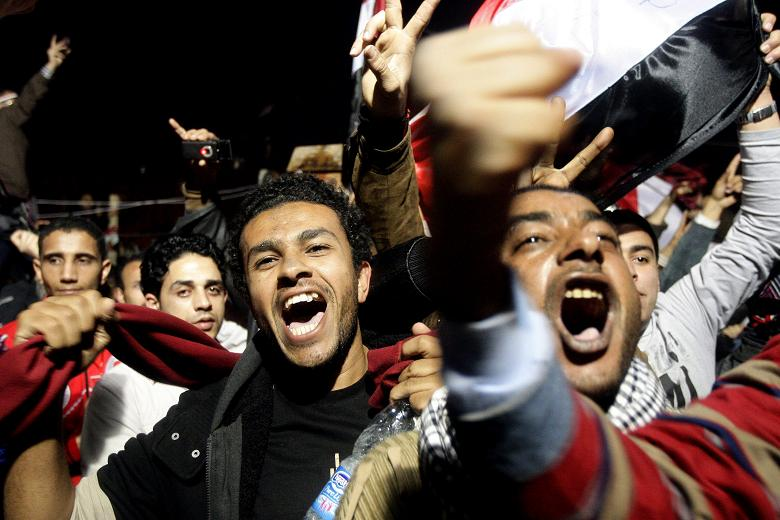 There was an eruption of delight in Tahrir Square as the President resigned