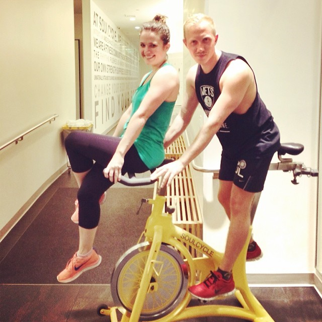 Meet the newest @soulcycle #warrior @kristyjgib!! Thanks for an incredible Monday night #ride @lauren_bruker!!! #soulcycle