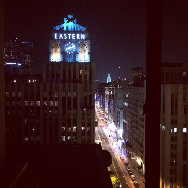 @acehotel DTLA with @thematfinish and @kristendarling !