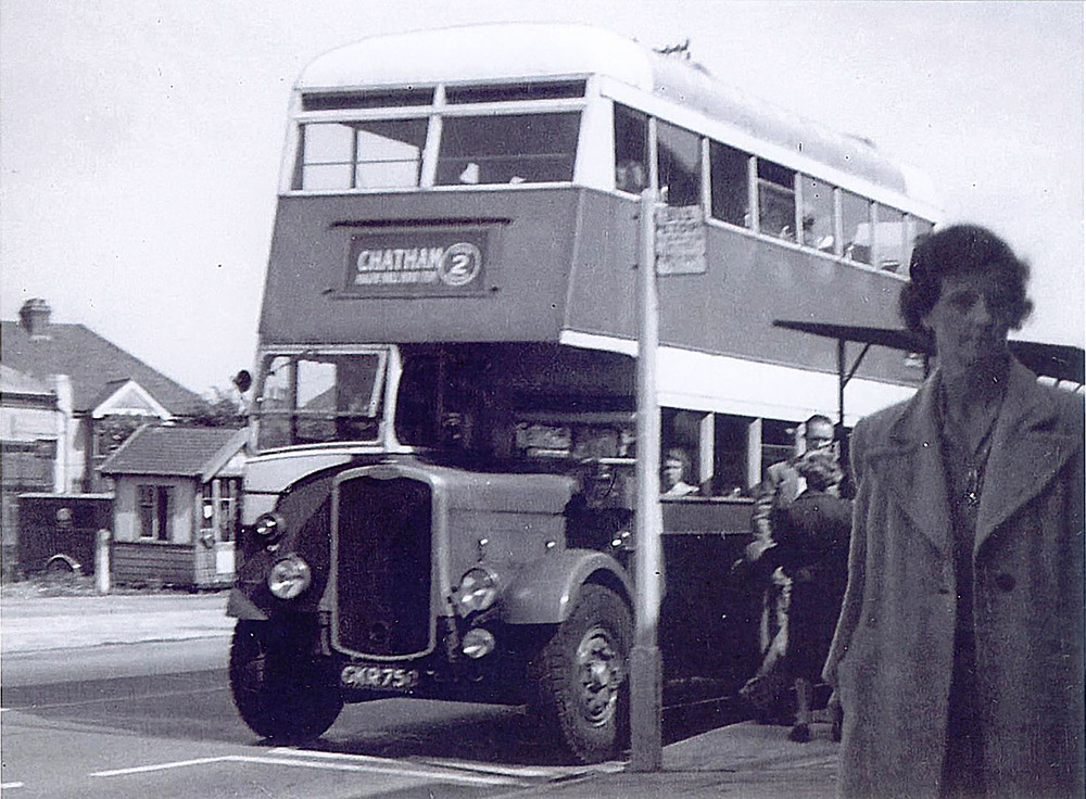 A couple of period pictures of Chatham Traction buses in ordinary service, doing what they were meant to do.