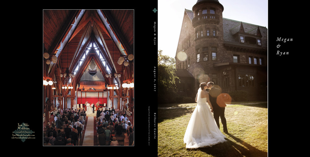 Megan & Ryan.  Belhurst Castle.  The 10x10 hard cover book.