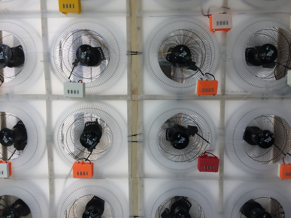 fans mounted with new power boxes