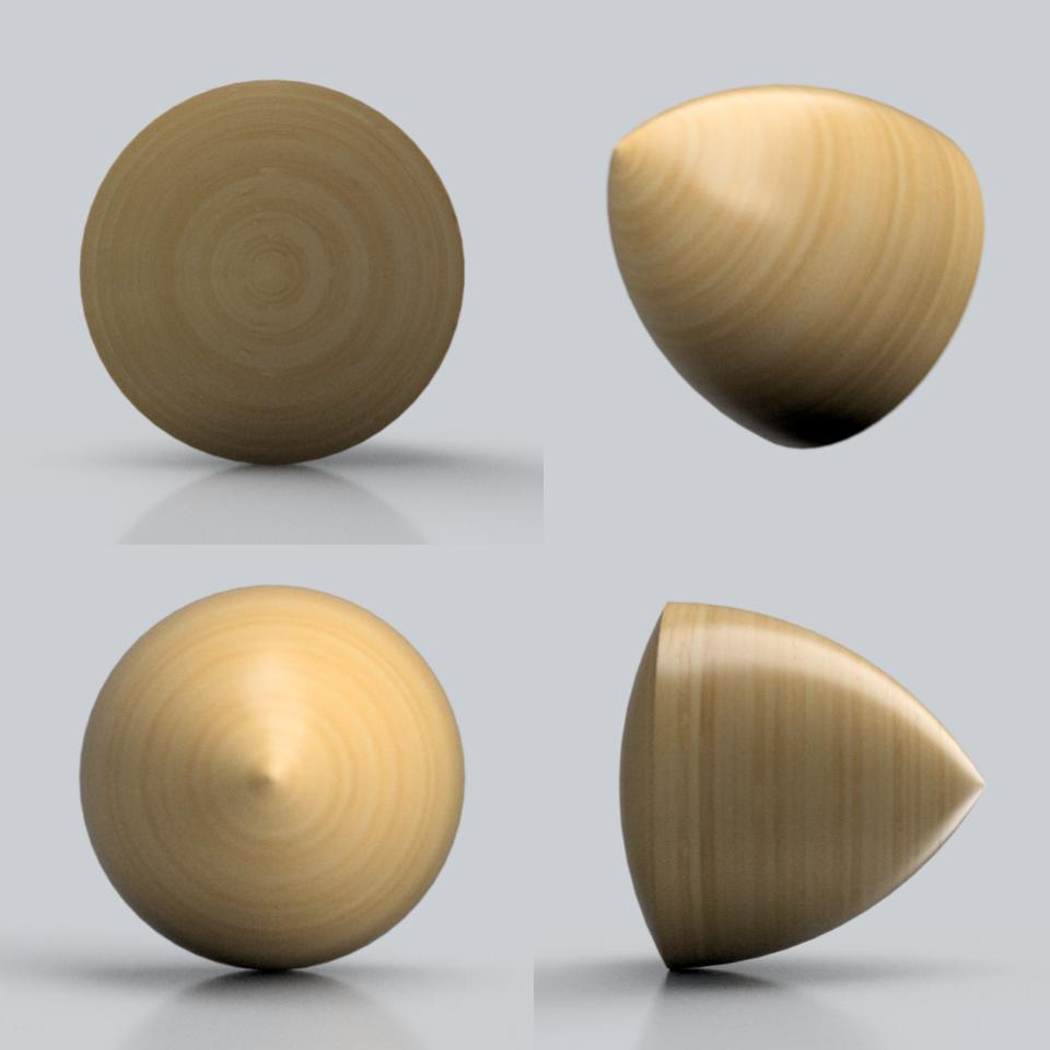 Solid of constant width modeled and rendered in Fusion 360