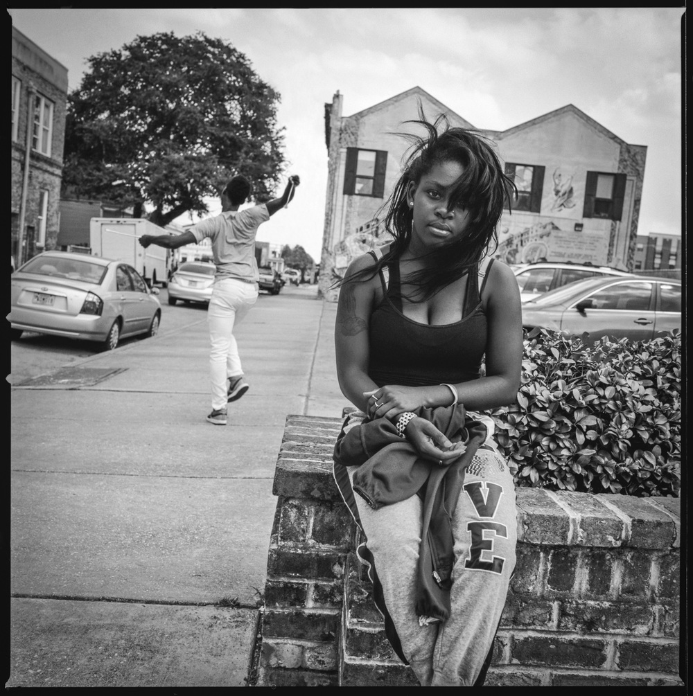 Two friends New Orleans, 2014   Made with Hasselblad 501c with Kodak Tri-X 400 b&w film