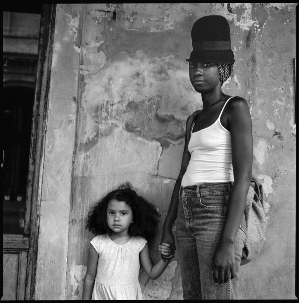 Mother and daughter New Orleans, Louisiana, 2015   Made with Hasselblad 501c with Kodak Tri-X 400 b&w film
