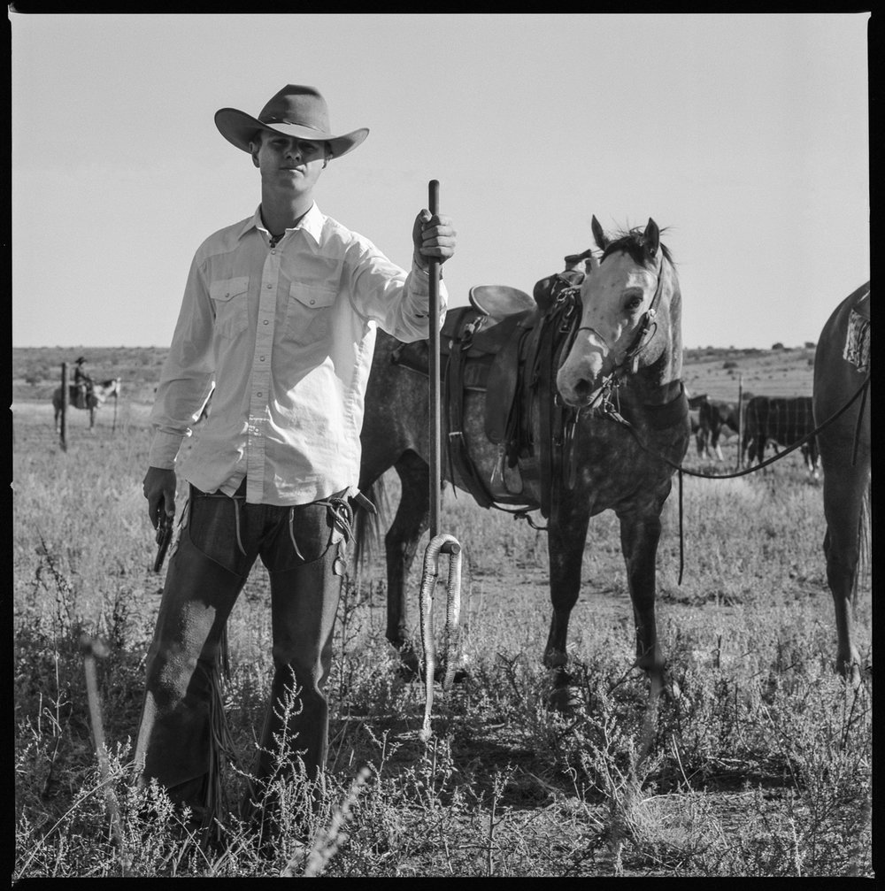 Cowboy just shot a rattkesnake Ft. Davis, Texas 2012   Made with Hasselblad 501c with Kodak Tri-X 400 b&w film