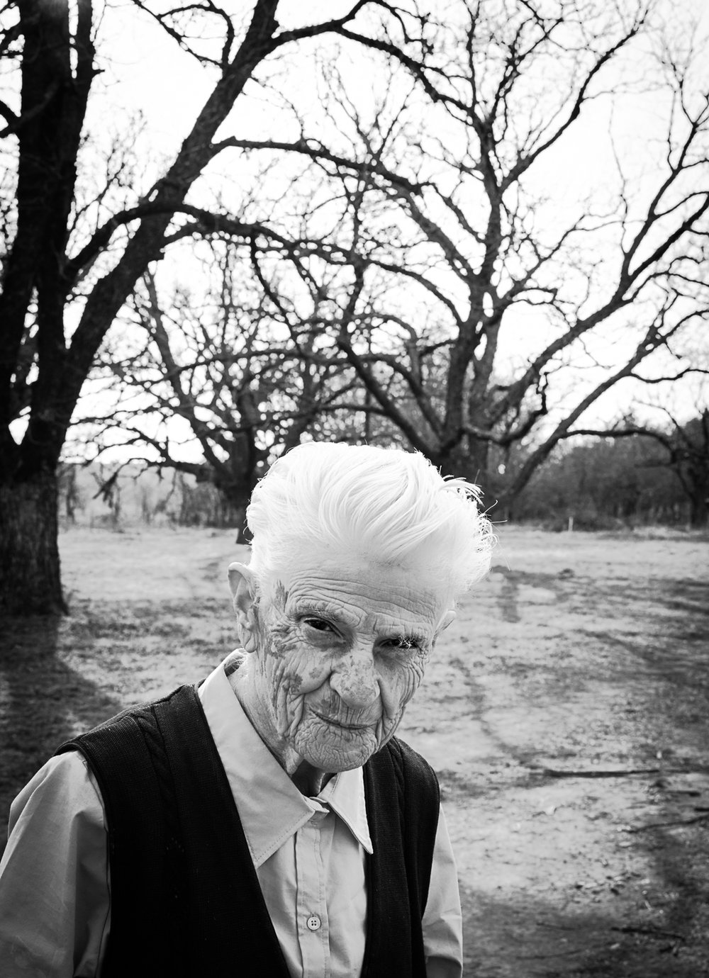 Helen Landers who has late-stage alzheimer's Menard County, Texas, 2017   Made with Hasselblad X1D medium format digital camera