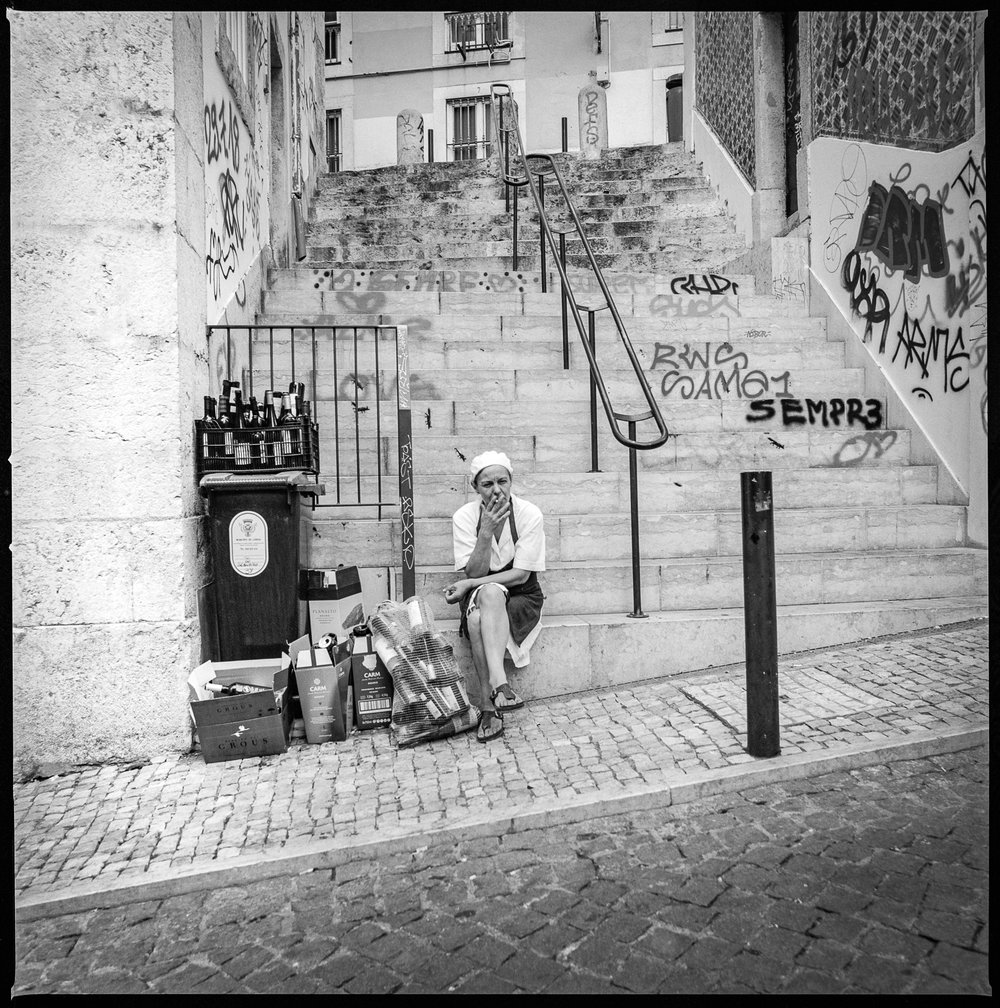 After a long work day Lisbon, Portugal, 2018   Made with Hasselblad 501c with Kodak Tri-X 400 b&w film