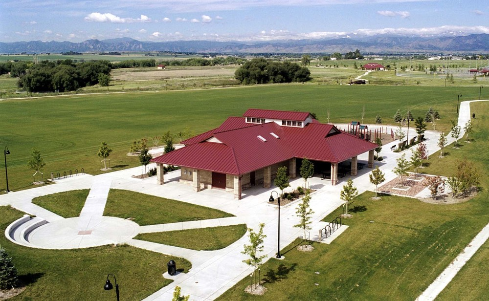 SANDSTONE RANCH - 140-acre site development including multi-use fields, open space, restroom and concession facilities and parking. Also included road improvements, landscaping, water pond irrigation, sewer and water lines, concrete sidewalks, and site grading and drainage.