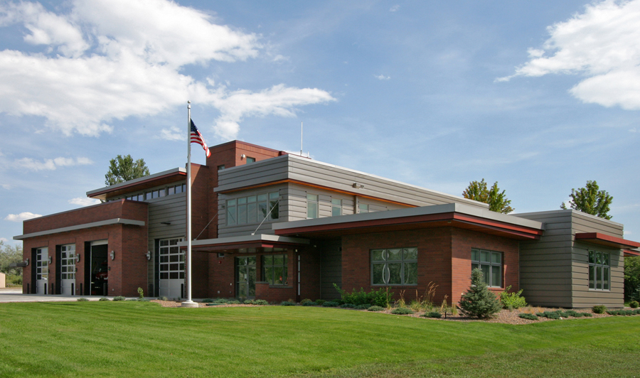 ROCKY MOUNTAIN FIRE STATION #1 -  A new 2-story 9,768 SF fire station with 4 vehicle apparatus bays.