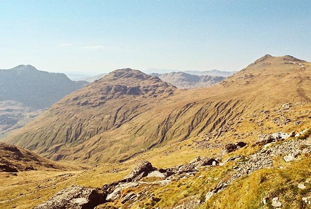 'The mountains are calling and I must go' 35mm photograph taken with my Pentax ME Super at The Cobbler, Scotland.