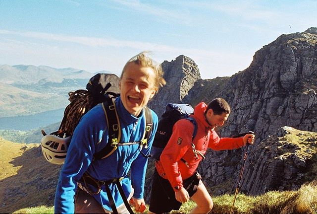 'Nearly there' 35mm photograph taken with my Pentax Me Super at The Cobbler, Scotland.