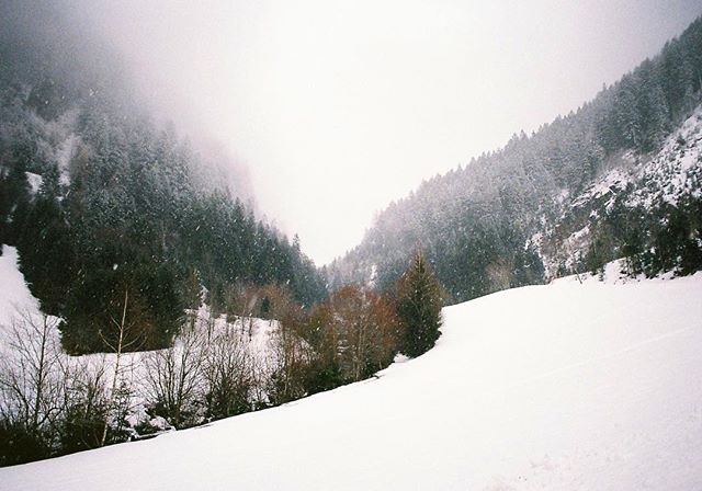 'Respect the mountains' 35mm photograph taken with my Pentax ME Super in Austria.