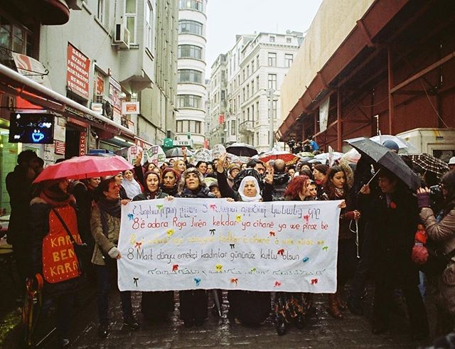 'Putin, please don't annex Crimea' The Ukrainian territory of Crimea was annexed by the Russian Federation back in March 2014. There were peaceful protests across Istanbul, but just 10 minutes after this photo was taken, police tear gassed everyone. 35mm photograph taken with my Pentax ME Super in Istanbul, Turkey.