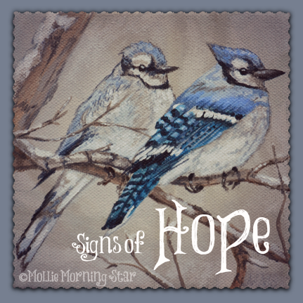 My Blue Jay visit inspired me to paint this for a friend.