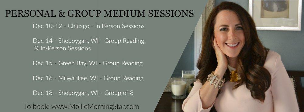 Psychic Medium Session in Green Bay, Wisconsin