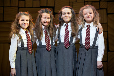 Sophia, Bailey, Oona, and Milly as Matilda