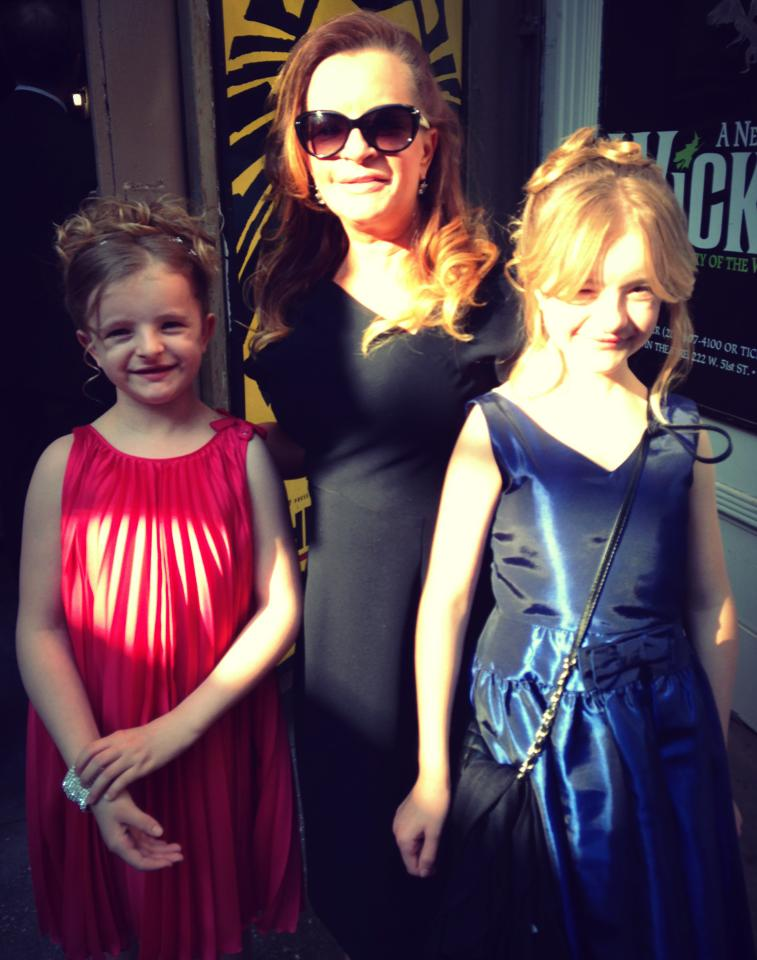 Milly, Abigail, and Mom at the Tony's