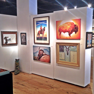 Icons of the West 2014 - Bison 11 (upper right) and Bison 12 (lower left)