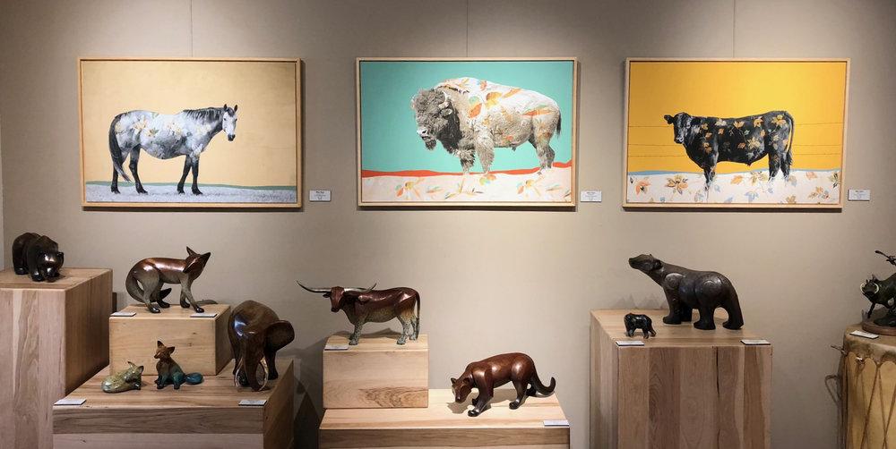Wallflower Series displayed in Sorrel Sky Gallery in Santa Fe, New Mexico.
