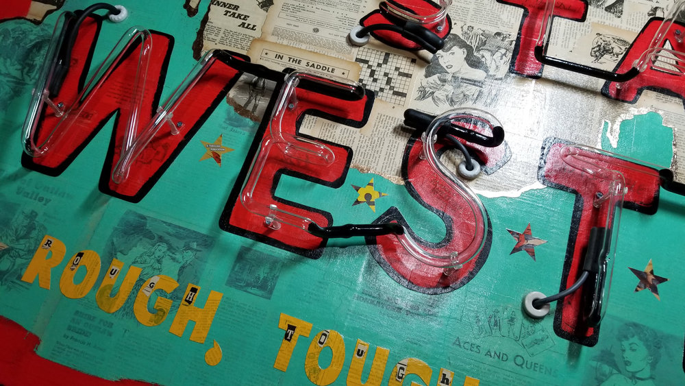 Star Western No. 1 - neon detail - currently available at Creighton Block Gallery in Big Sky, Montana