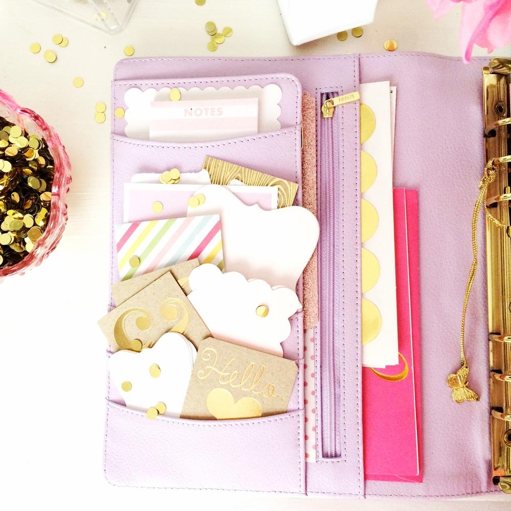 planner. pretty. glitter. filofax. gold.