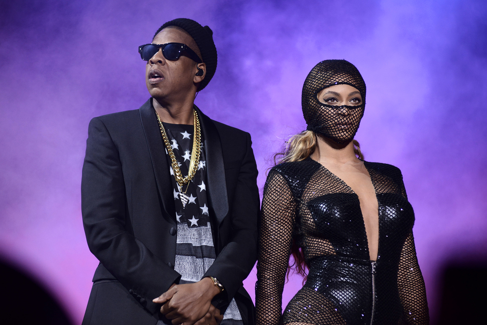 FOXBOROUGH, MA - JULY 1: Beyoncé and JAY Z perform on the On The Run Tour at Gillette Stadium on Tuesday, July 1, 2014, in Foxborough, Massachusetts. (Photo by Mason Poole/Parkwood Entertainment/PictureGroup)