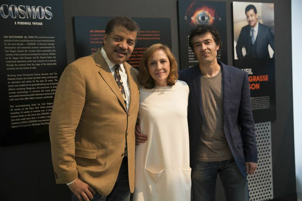 Neil Degrasse Tyson with producers from  Cosmos . (Paul DeBaun/Roman's Rap-Up)
