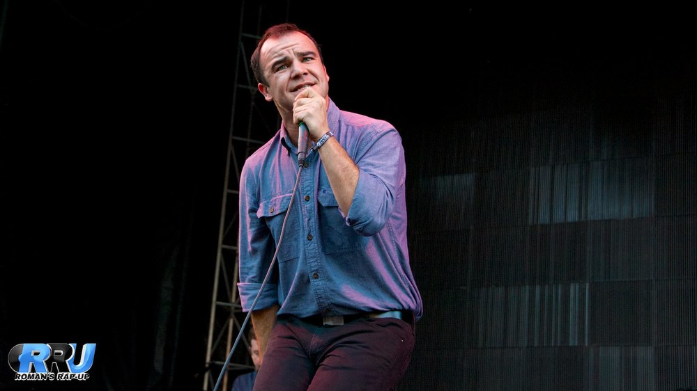 Future Islands performing at Boston Calling Music Festival on September 5th, 2014 (Benjamin Esakof/Roman's Rap-Up).