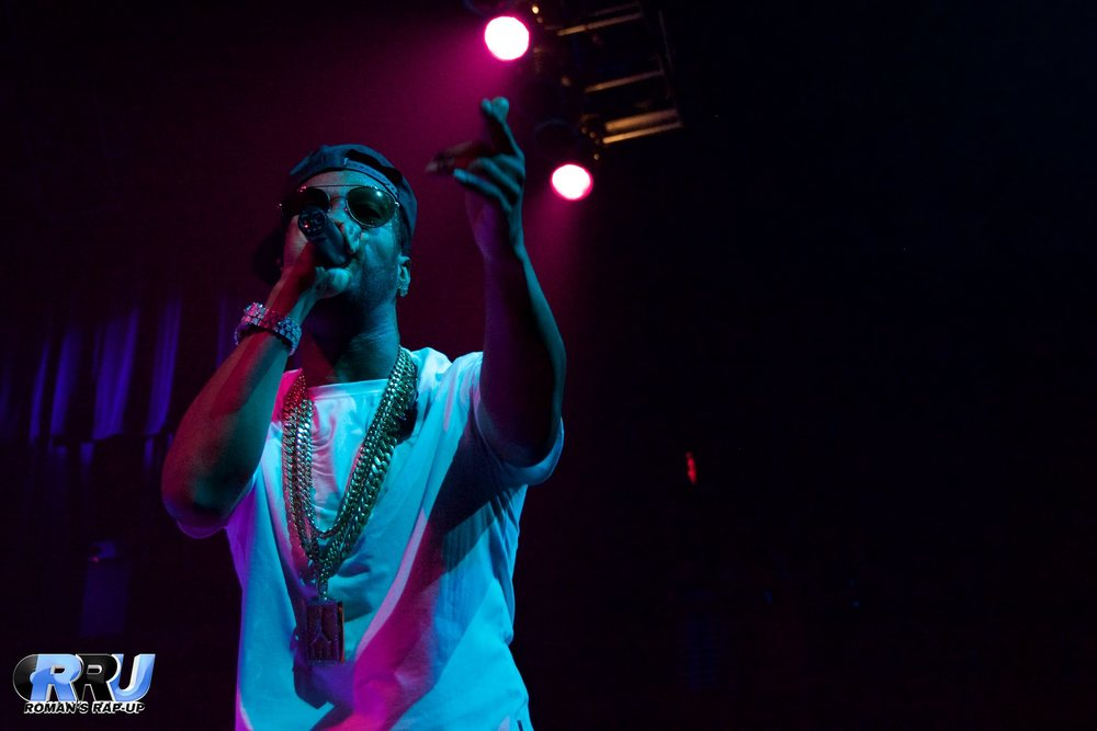 "Juicy J performs at the House of Blues in Boston, MA on June 10th, 2015 as part of his ""THC"" tour (Benjamin Esakof/Roman's Rap-Up)."