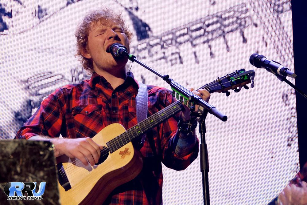 Ed Sheeran performed his biggest U.S. show to date on Friday, September 25th, at Gillette Stadium in Foxboro, MA (Benjamin Esakof/Roman's Rap-Up).