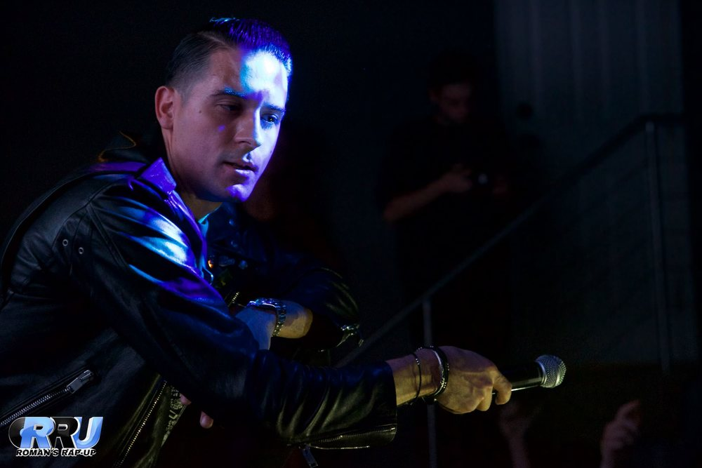 "G-Eazy performs in Boston during his ""When It's Dark Out"" listening party on November 20th, 2015 (Benjamin Esakof/Roman's Rap-Up)."