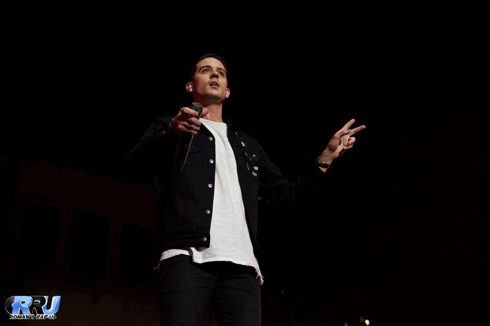 G-Eazy performing at Lowell's Tsongas Center Arena outside of Boston on January 22nd, 2016 (Benjamin Esakof/Roman's Rap-Up).