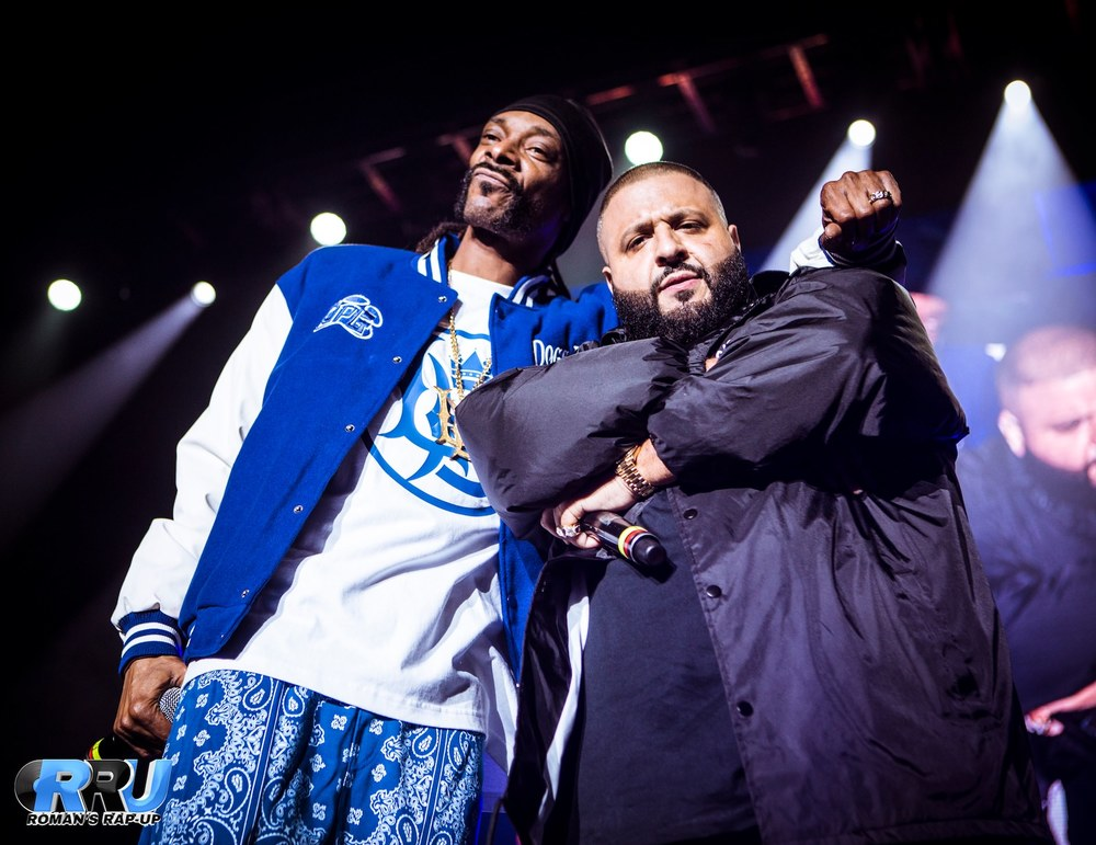 DJ Khaled & Snoop Dogg at 92.3's Birthday Bash Concert at The Forum in Inglewood, CA (Gibson Dintersmith/Roman's Rap-Up).