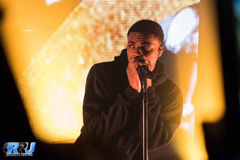 Vince Staples performing at Paradise Rock Club on March 28th, 2017 (Robert Jaczko/Roman's Rap-Up Media Group, LLC).