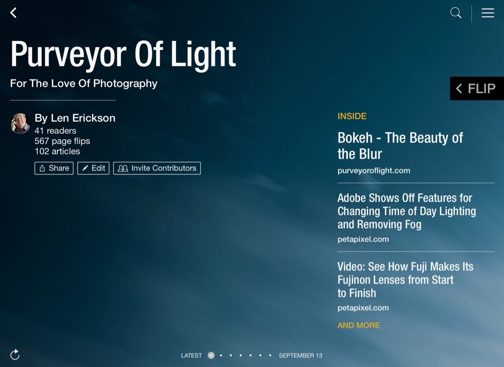 https://flipboard.com/section/purveyor-of-light-btFr3y